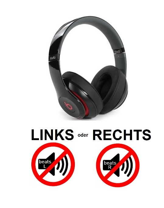 beats studio 2.0 wireless [links oder rechts kein Sound]