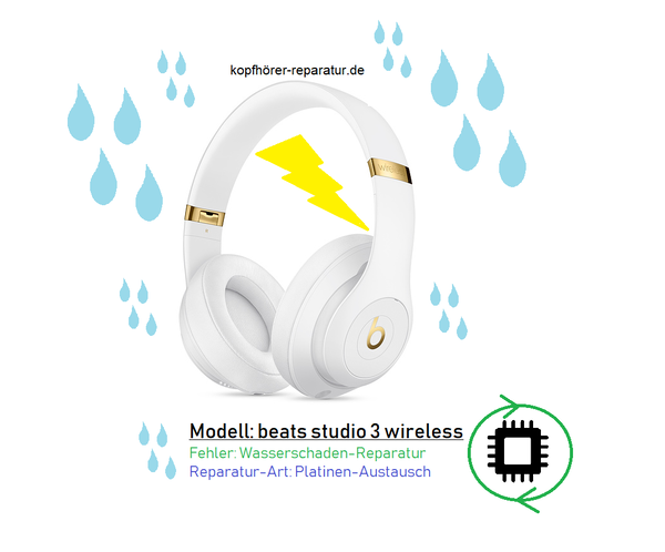 beats studio 3 wireless: Platinenaustausch nach Wasserschaden