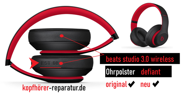 beats studio 3.0 wireless Ohrpolster (defiant Edition) (original)