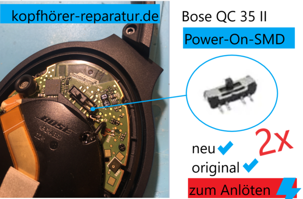 Bose QC 35 Power-Button (SMD)
