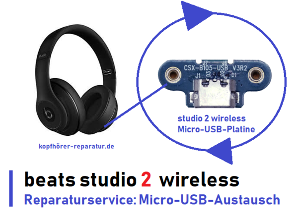 beats studio 2.0 wireless [Micro-USB-Ladeplatinen-Austausch]