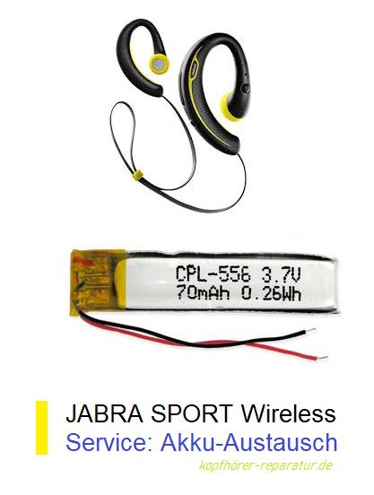 jabra sport wireless kopfh rer akku defekt jetzt reparieren. Black Bedroom Furniture Sets. Home Design Ideas