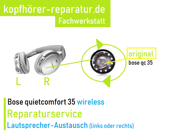 Bose quietcomfort 35 wireless (qc 35): links oder rechts kein Sound